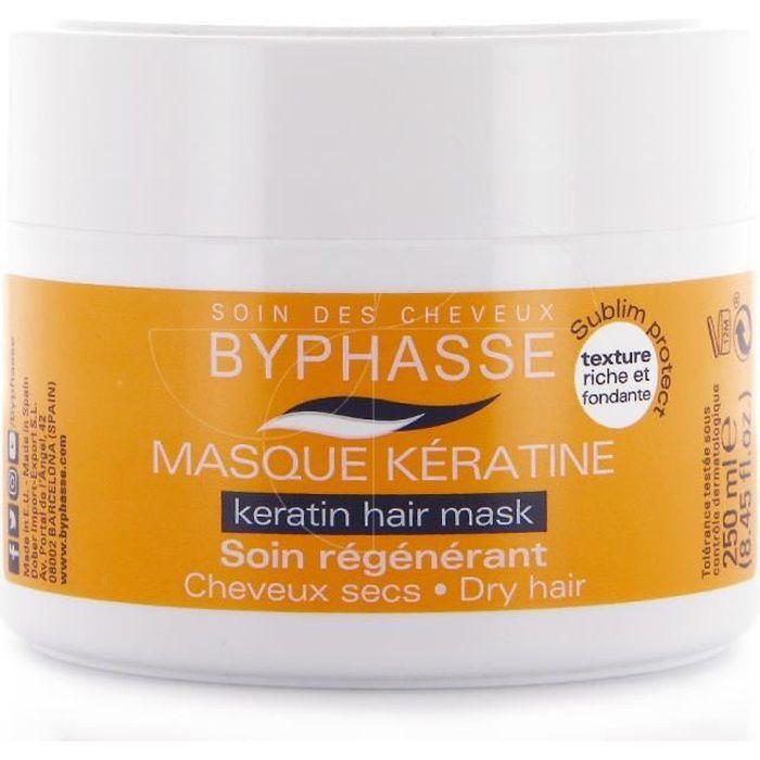 byphasse - masque capillaire kératine - cheveux secs - 250ml - achat