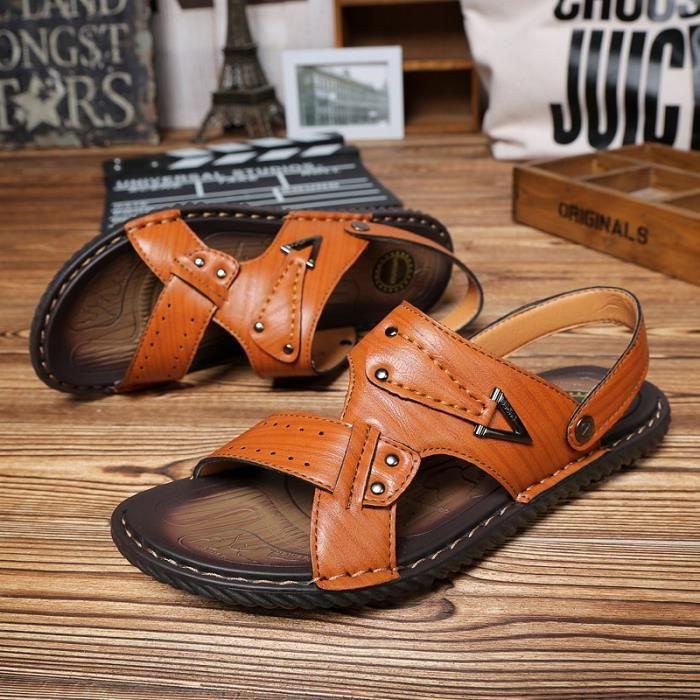 Sandales d'été casual chaussures respirant pant...