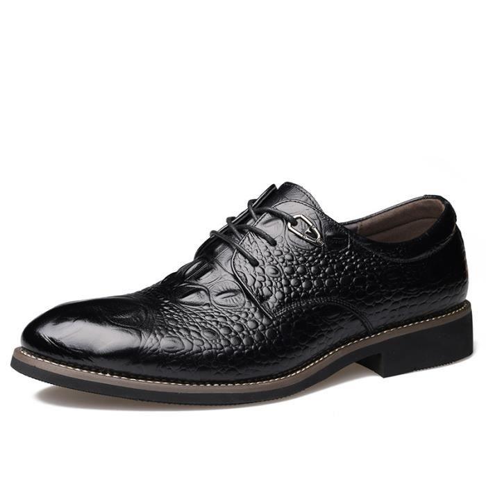 Chaussures En Cuir Homme Soulier Habillées Chau...
