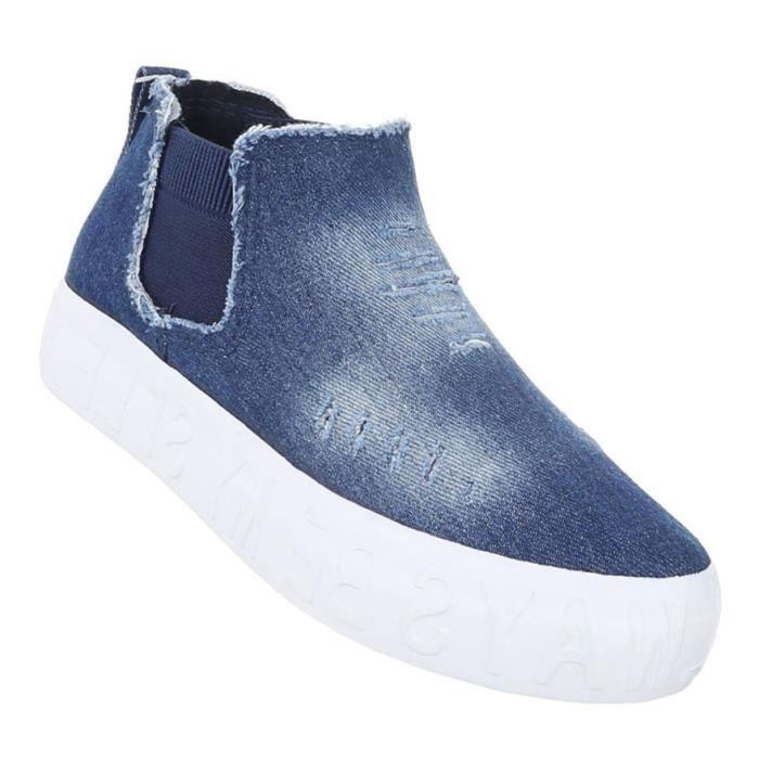 Femme chaussures de loisirs chaussures sportif Slipper bleu 41