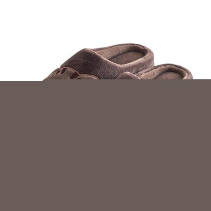 CUSSELEN Chats Chausson Nouvelle résistantes à l'usure Mignon Simple Léger Chaussure Chaud Hiver Classique CotonAdulte