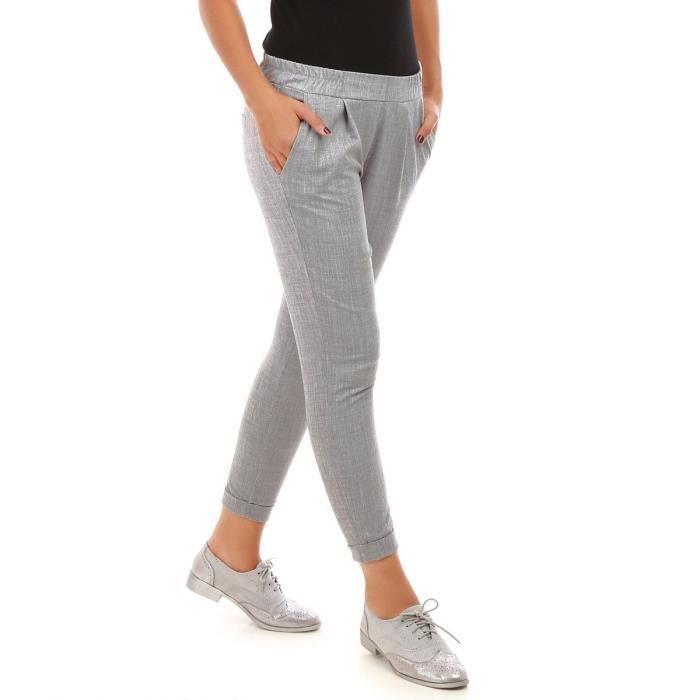 3d98378c7d4 Pantalon à pinces gris Gris Gris - Achat   Vente pantalon - Cdiscount