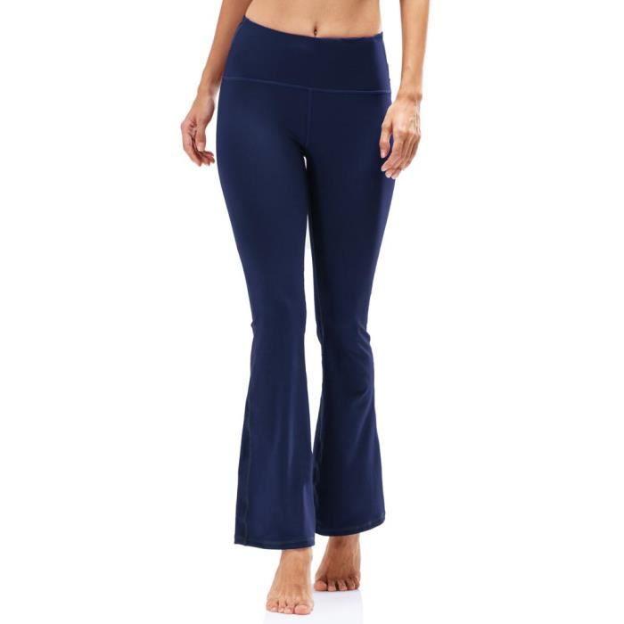 Lâche Yoga Taille Haute Elastique Femme Sport Pantalon q6RU1Xx