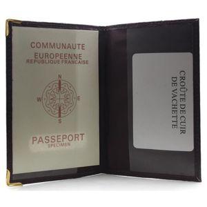 Protege Passeport Achat Vente Pas Cher - Porte passeport cuir
