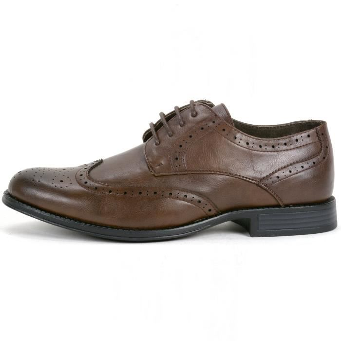 Zurich Robe Hommes Chaussures à lacets Brogue Médaillon Wing Tip Oxfords WZ66F Taille-42