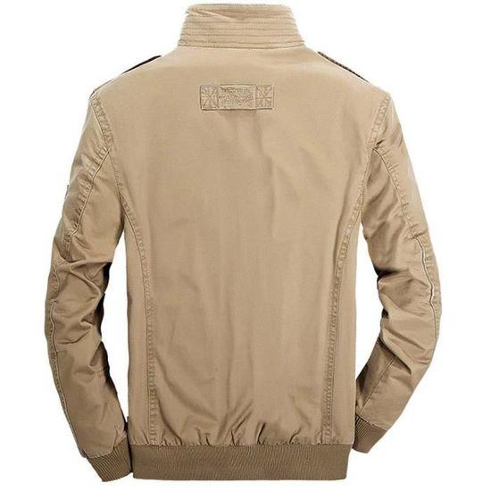 Printemps Militaire Manteau Coton Automne Homme Outdoor wS65zxq
