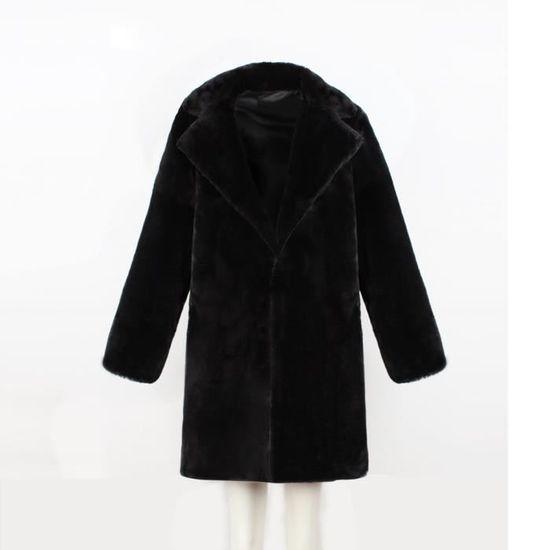 Fourrure Lady Manteau Long Parka Chaud Vêtement Noir Womens Fausse Hiver Marioyuzhang En aqw518a