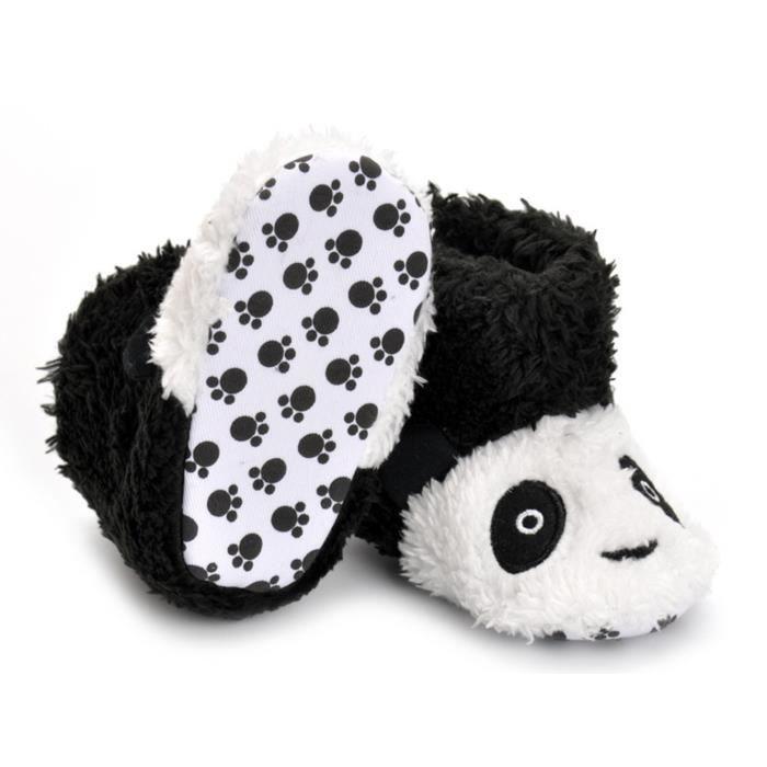 GEMVIE Botte de Neige Bébé Panda Velours Peluche Chaud d'Hiver Boots de Cartoon