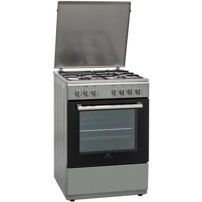 CONTINENTAL EDISON Cuisinière mixte 3 feux gaz + 1 électrique  four multifonction catalyse 65L - L60