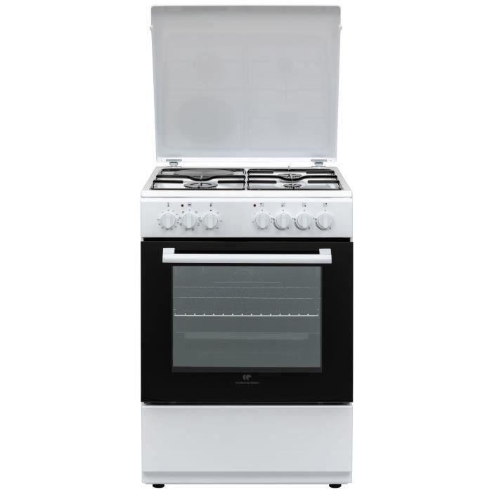 Cuisinière mixte 3+1 60x60 Multifonction Cata Allumage auto, four 65L white