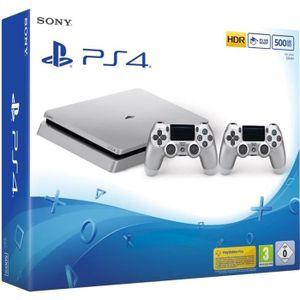 CONSOLE PS4 Nouvelle PS4 Slim Silver 500 Go + 2e Manette Silve