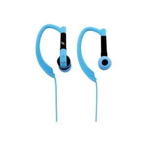 Ecouteurs bleus SPORT avec micro intégré