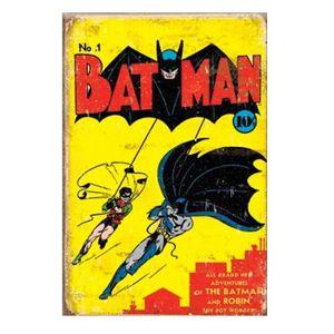 AFFICHE - POSTER Couvercle Batman # 1 en métal, plaque rétro
