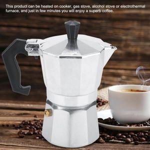 COMBINÉ EXPRESSO CAFETIÈRE Cafetière d'espresso de moka italien en aluminium