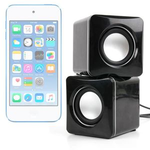 ENCEINTE NOMADE Mini haut-parleurs USB noirs pouriPhone 7 et 7 Pl