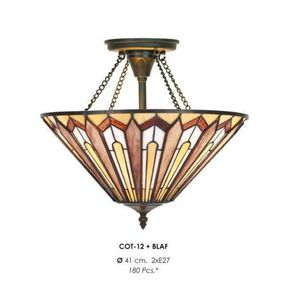 LAMPE A POSER Casa Padrino Tiffany Ceiling Lamp 41 cm Brown / Cr