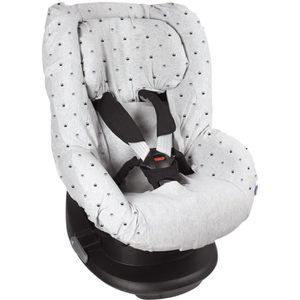 PARTITION Dooky Seat Cover Groep 1 - Light Grey Crowns