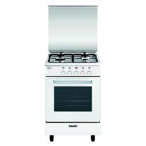 CUISINIÈRE - PIANO Glem - cuisinière gaz 60l 4 feux blanc - ga550gwh