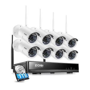 CAMÉRA DE SURVEILLANCE H.265+ Kit Caméra de surveillance sans fil Extérie