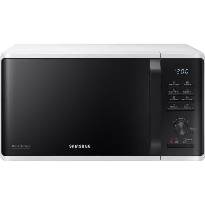 SAMSUNG - Micro-ondes solo 23lContrôle électronique + boutonFonction maintien au chaudDécongélation