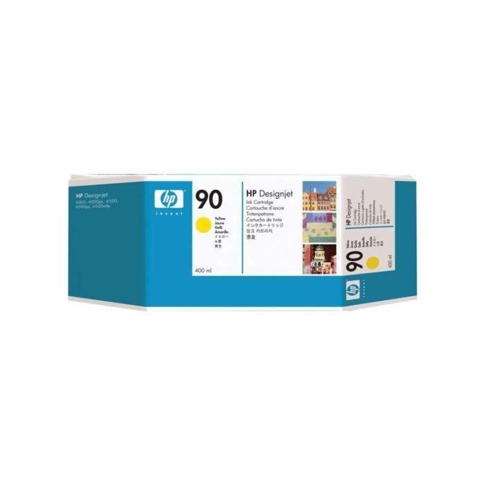 HP 90 Original Cartouche d'encre Pack de 1 - Jaune - 400 mlCARTOUCHE IMPRIMANTE