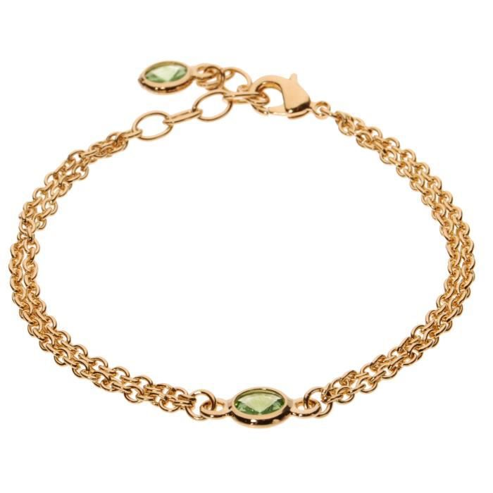 Womens Double Strand Crystal Bracelet GDEXE