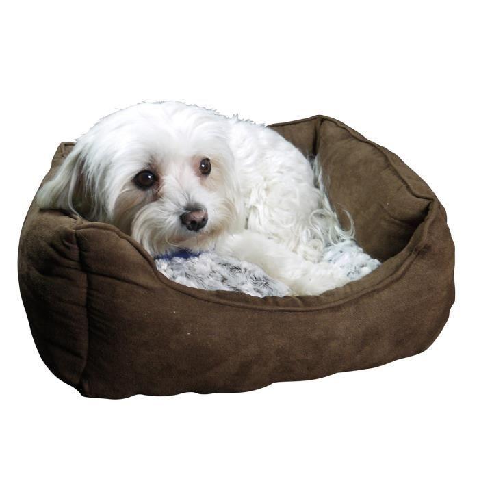 petit canap lit pour chien avec coussin pour chien convient galement comme chat lit 44 6 x 32. Black Bedroom Furniture Sets. Home Design Ideas