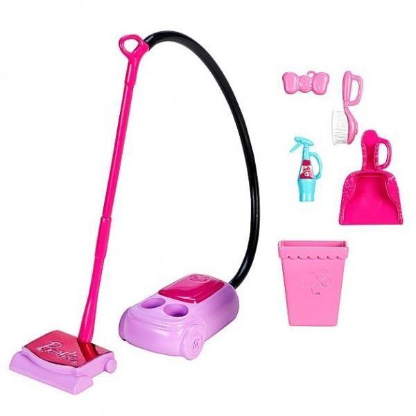 Barbie home accessoires set le m nage aspirateur achat for Accessoire maison barbie