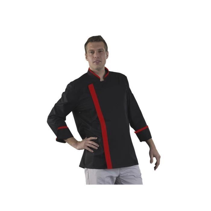veste de cuisine noir et rouge les vestes la mode sont populaires partout dans le monde. Black Bedroom Furniture Sets. Home Design Ideas
