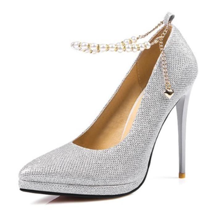 Escarpin Pumpo Chaussures Femmes Solid Color Peep Toe Haute Chaussures à talons mince 12516870 5aQoe1
