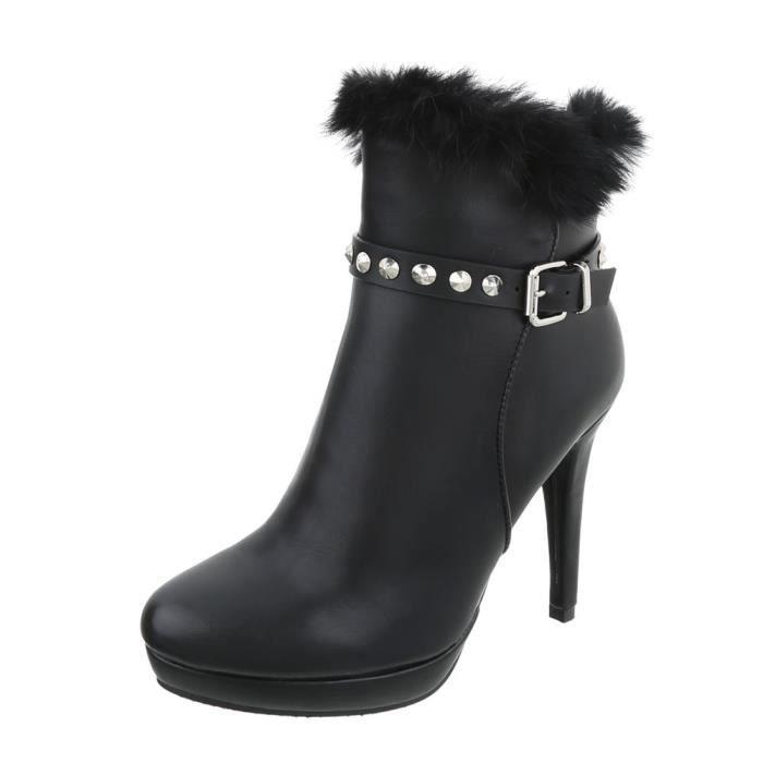 Bottine élégante  High Heels talon aiguille   bottes talon aiguille   Bottes à glissière   bottes de plateau   Chaussures femme