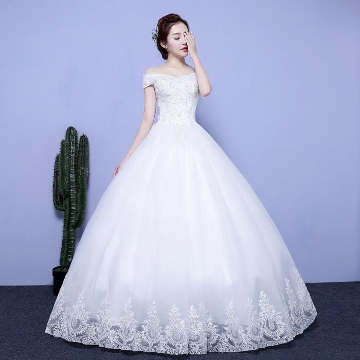 fd188d5ff2f Nouvelle mariée simple mariage robe de mariée d été style coréen épaule  mince princesse