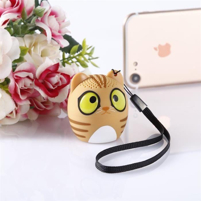 Mini Haut-parleur Portable Mignonne Animal Bluetooth Sans Fil Son Voix Claire Lecteur Audio Vtb-bm6 Tf Carte Usb Ifor Mobile Pc