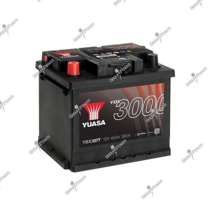 BATTERIE VÉHICULE Batterie auto, voiture YBX3077 12V 45Ah 380A Yuasa