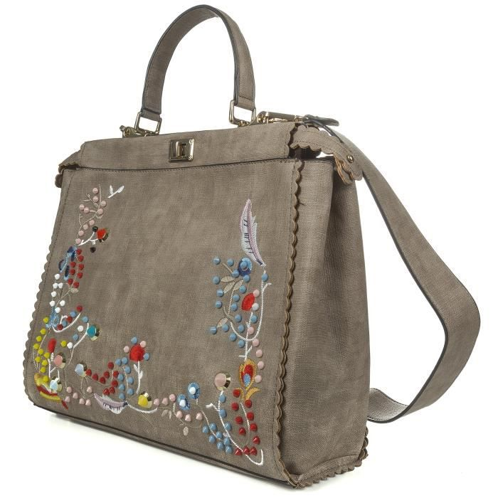 Flora Broder Sac à main Design Haut Sac à poignée faux cuir fourre-tout style sac à mainX8DHF