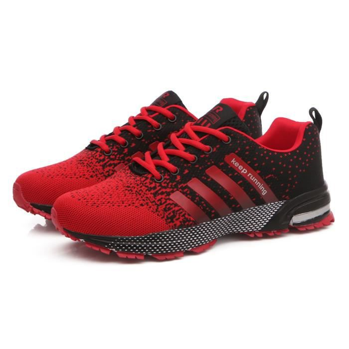 Homme Femme Air Chaussures Baskets Course Gym Fitness Sport
