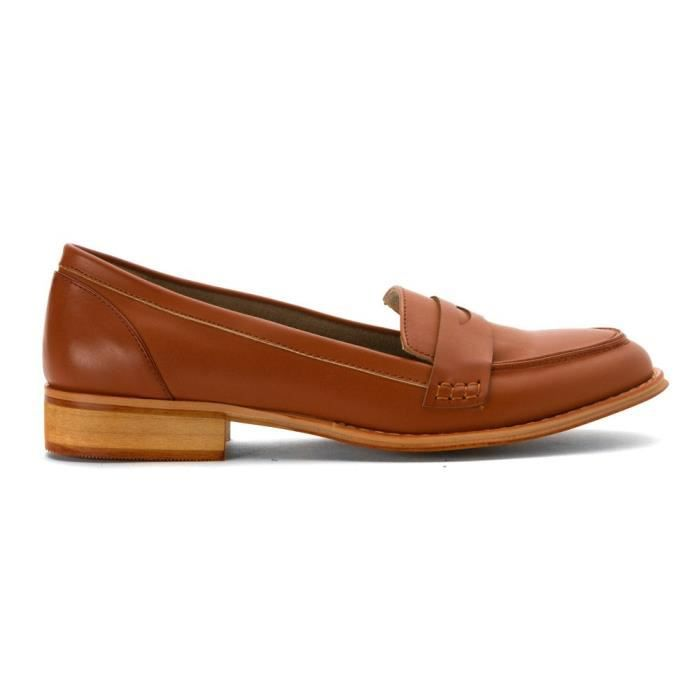Wanted Campus bout rond Mocassins en cuir PMGRF Taille-39