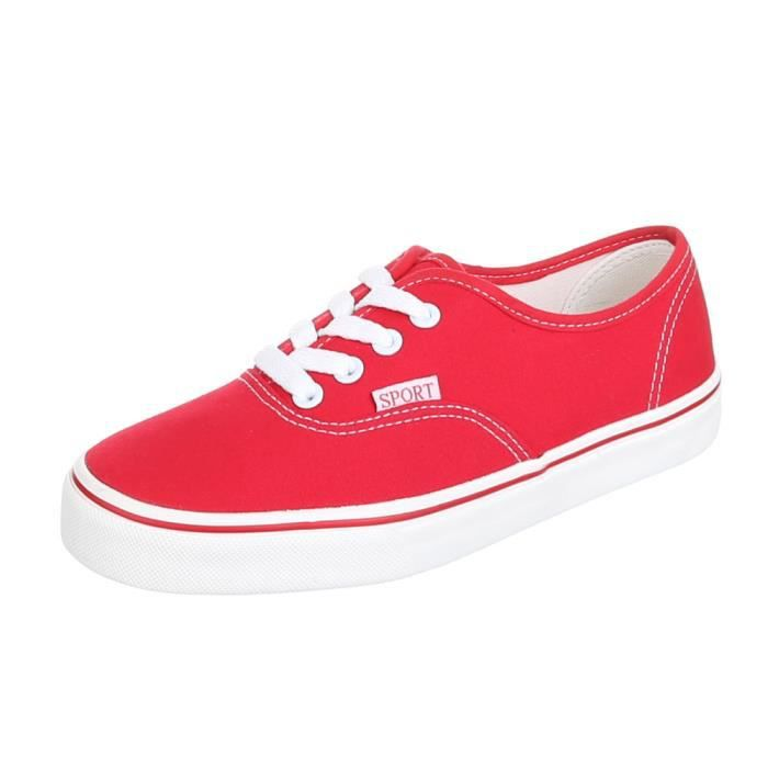 Femme chaussures loisirs chaussures Sneakers rouge 40 GXaXpKkHI