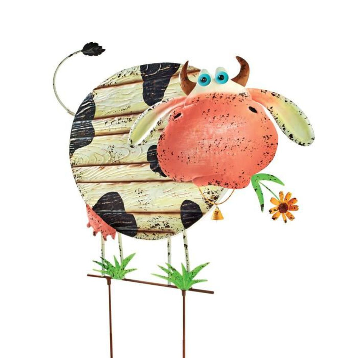 Pureday d coration en forme de vache qui bouge la t te for Le jardin qui bouge