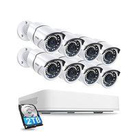 CAMÉRA DE SURVEILLANCE ZOSI 8CH 5MP Full HD Système de Surveillance 2To E