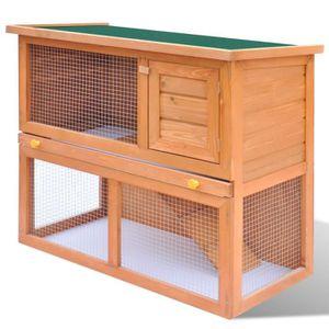 CLAPIER Cage Clapier Extérieur en Bois pour Lapins 1 Porte