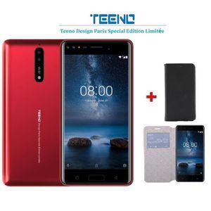 SMARTPHONE TEENO Smartphone 4G Débloqué 5.5 Pouces Rouge (Qua