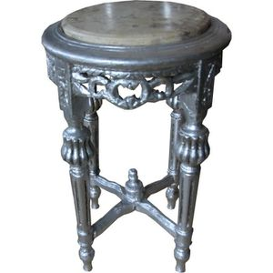 TABLE D'APPOINT Casa Padrino Baroque table d'appoint ronde crème d
