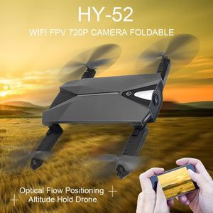 DRONE HY-52 DRONE Wifi FPV 720 P Caméra Pliable Flux Opt
