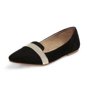 SLIP-ON Ten Ventres en cuir de daim noir pour femme GCEIM