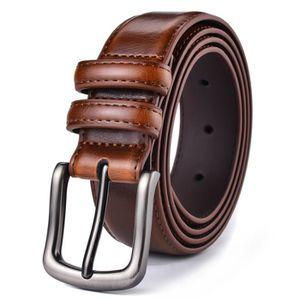10a03c88d11e CEINTURE ET BOUCLE Ceinture en cuir véritable ceinture hommes ceintur