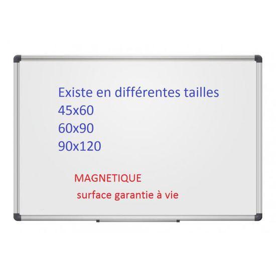 tableau blanc émail gamme professionnelle premimum 90x60 - achat
