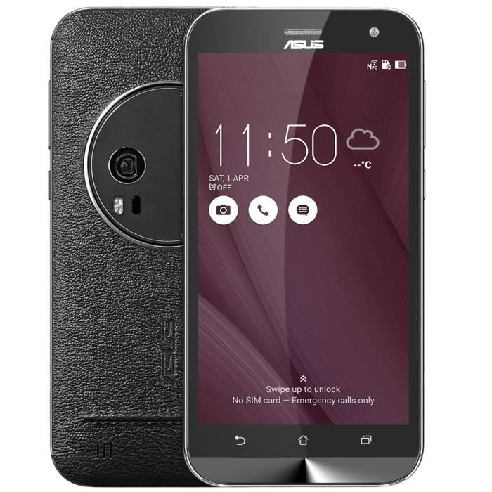 Smartphone ASUS Zenfone Zoom ZX551ML 4G Android50 55 4GB RAM 128GB ROM Cameras 130MP 50MP Noir