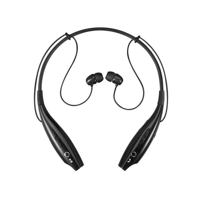 Tf Bluetooth Headset Casque Stéréo Sans Fil Écouteurs Sportifs (noir)
