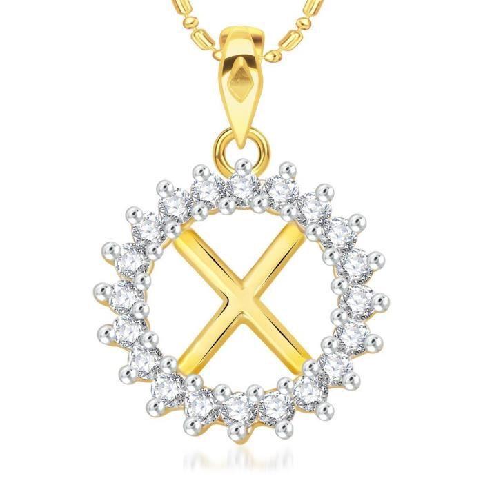 Lettre de femmes Vk Bijoux Alphabet Collection Brass alliage dor Cz  américain diamant Alphabet PendentifDOXVP 1d8ff1206516